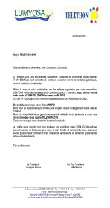 courrier adherent benevoles donateur